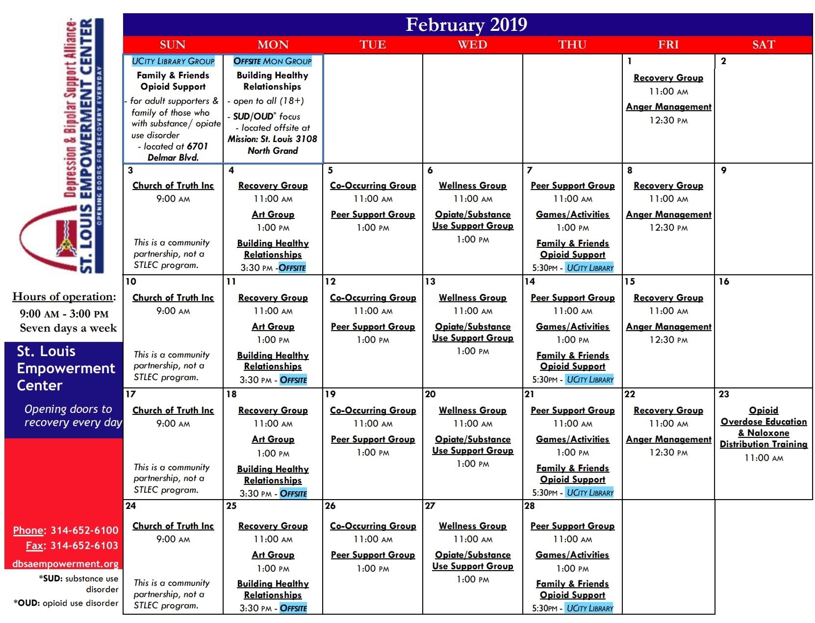 Rcc Calendar 2019 STLEC RCC Calendar   FEB 2019 v2